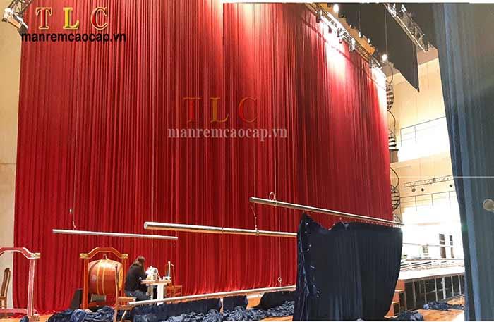 thi công rèm cửa sân khấu
